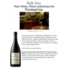 Guarachi Family Wines 2015 Sonoma Coast Pinot Noir a Top Pinot Selection for Thanksgiving