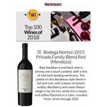Bodega Norton Privada 2015 Named #60 Best Wine of 2018 by Wine Enthuasiast