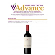 Kaiken Estate Cabernet Sauvignon 2017 Awarded Best Value from Wine Spectator
