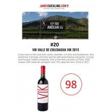VIK 2015 Receives 98 Points + Named #20 Top 100 Andean Wines of 2018