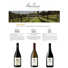 New Ratings from Wine Advocate's Sonoma Report for Guarachi Family Wines 2017 Vintages