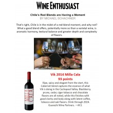 VIK Milla Cala 2014 Featured in Red Blends from Chile Report by Wine Enthusiast