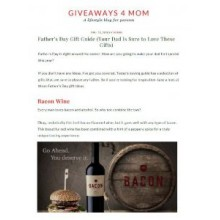 BACON Included in Giveaways 4 Mom Father's Day Gift Guide