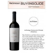 Wine Enthusiast's 2018 Buying Gives Bodega Norton 2015 Privada 92 Points