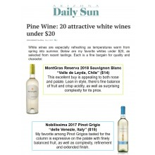 Arizona Daily Sun Recommends Nobilissima + MontGras as Attractive White Wines Under $20