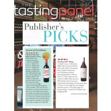 VIK 2013 and tenshen white 2016 Featured in the Tasting Panel Magazine Publisher's Pick