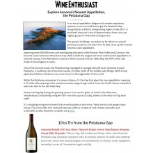 Wine Enthusiast Features Sonoma's Newest Appellation, Petaluma Gap, and Guarachi Family Wines