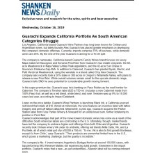 Shanken News Daily Featured Guarachi Wine Partners' Innovation and Success – Oct 16, 2019