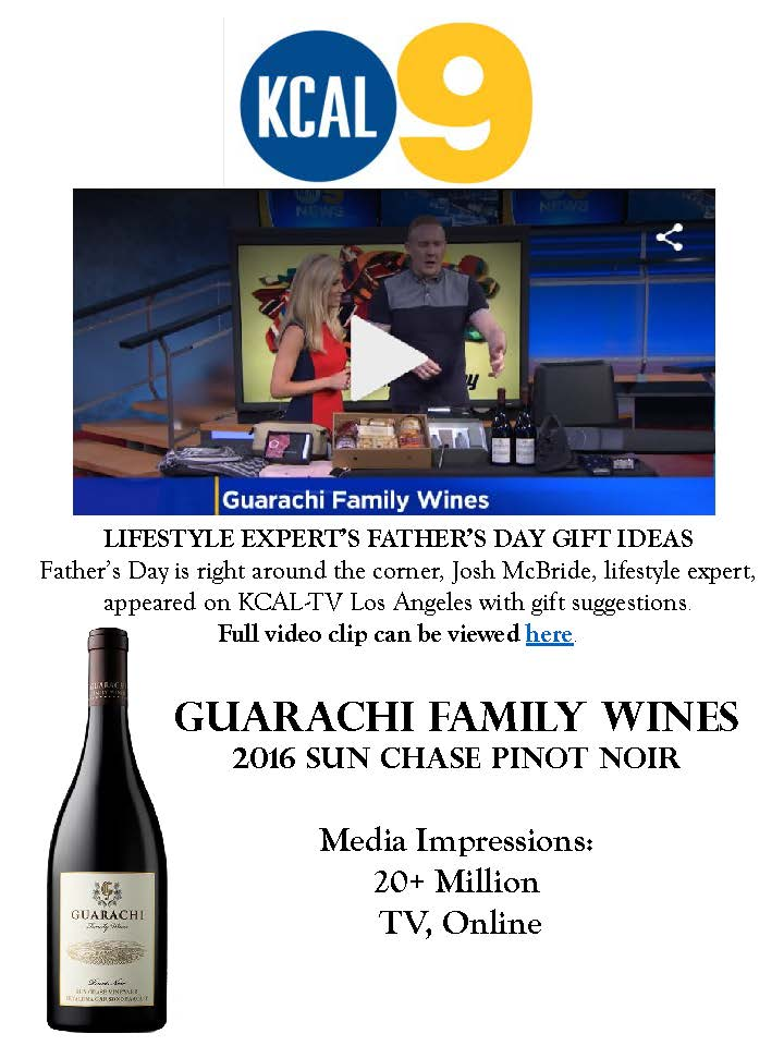 Guarachi Family Wines Featured on CBS Los Angeles' Father's